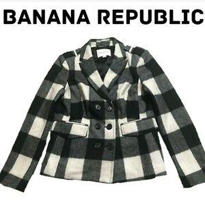 Banana Republic Jackets & Coats - Banana Republic Double Breated Plaid Peacoat
